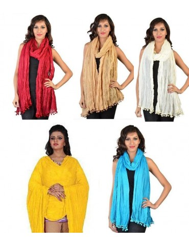 Cotton Dupatta Combo pack of 5